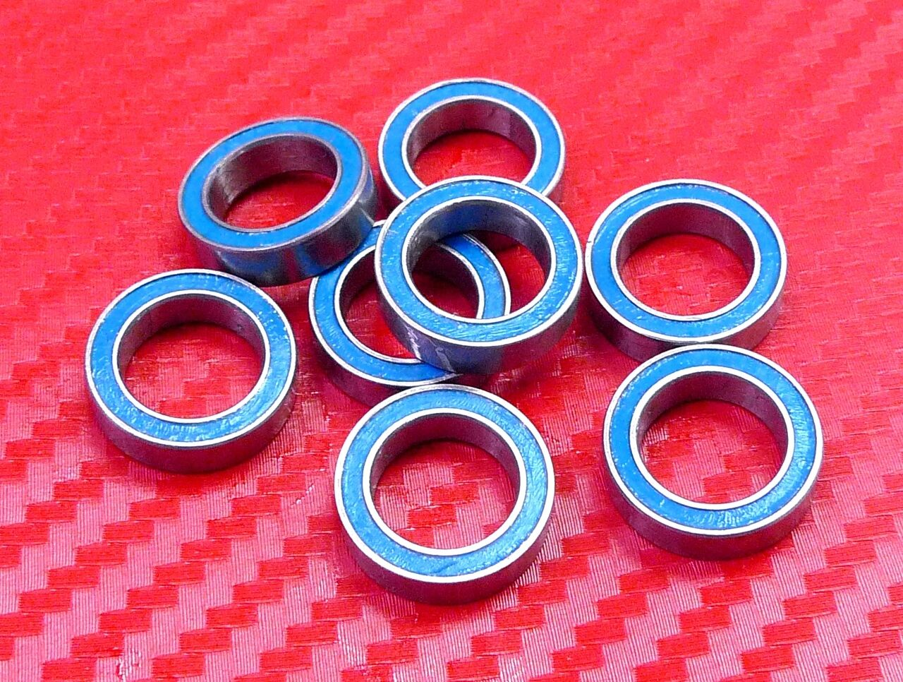 [QTY 25] ABEC-3 6802-2RS (15x24x5 mm) blueE Rubber Sealed Ball Bearing 6802RS