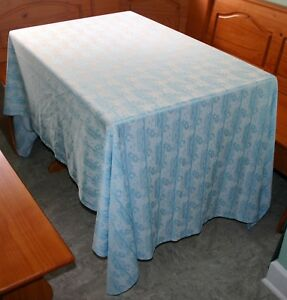 Vintage Tablecloth Floral Oblong 1970 S Textured Polyester