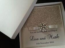 LUXURY Boxed Wedding Invitation personalizzata e qualsiasi colore