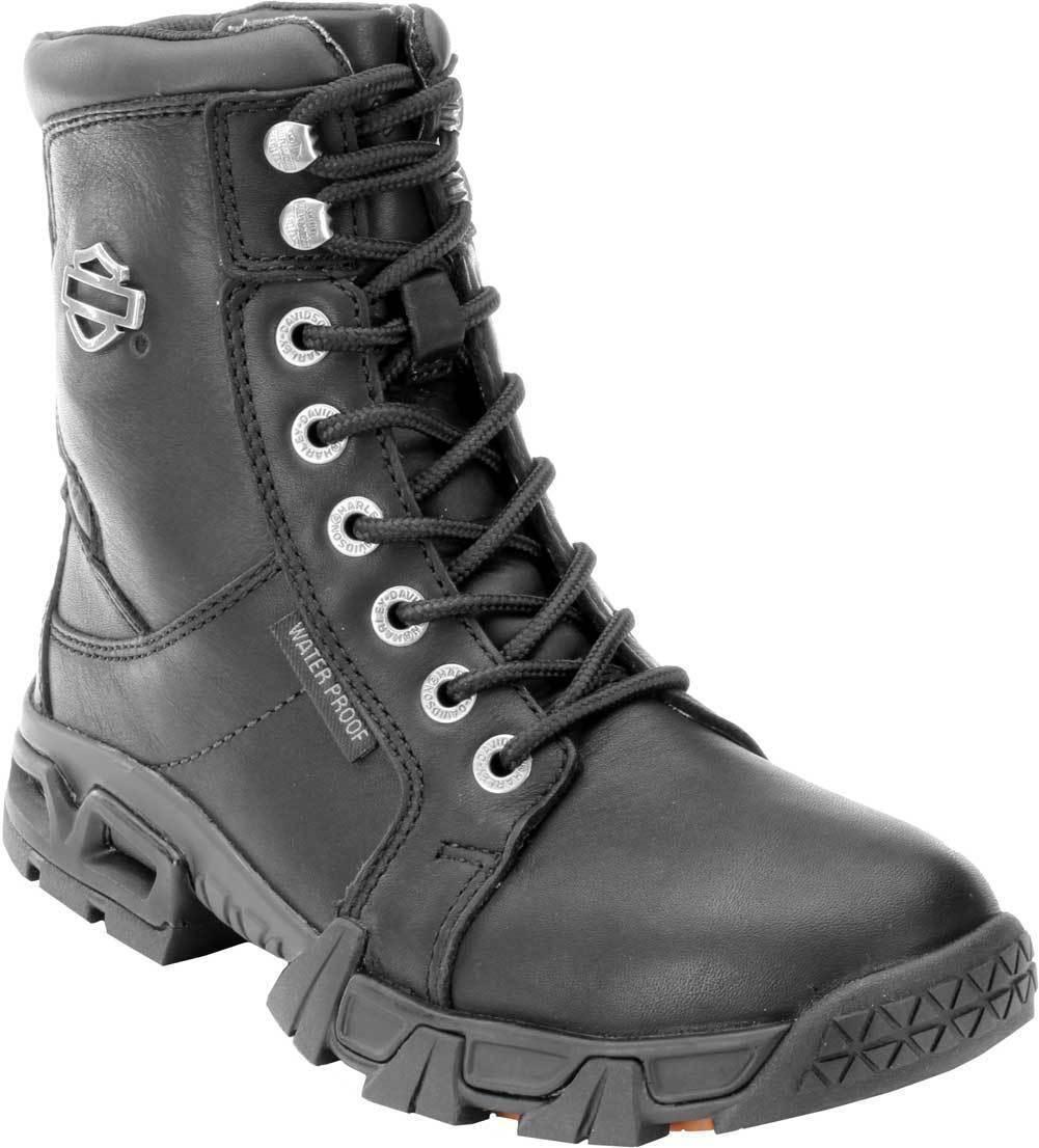 87054 Harley-Davidson Women's Women's Women's Elaine Waterproof Black Motorcycle Boots Size 9 e9f505