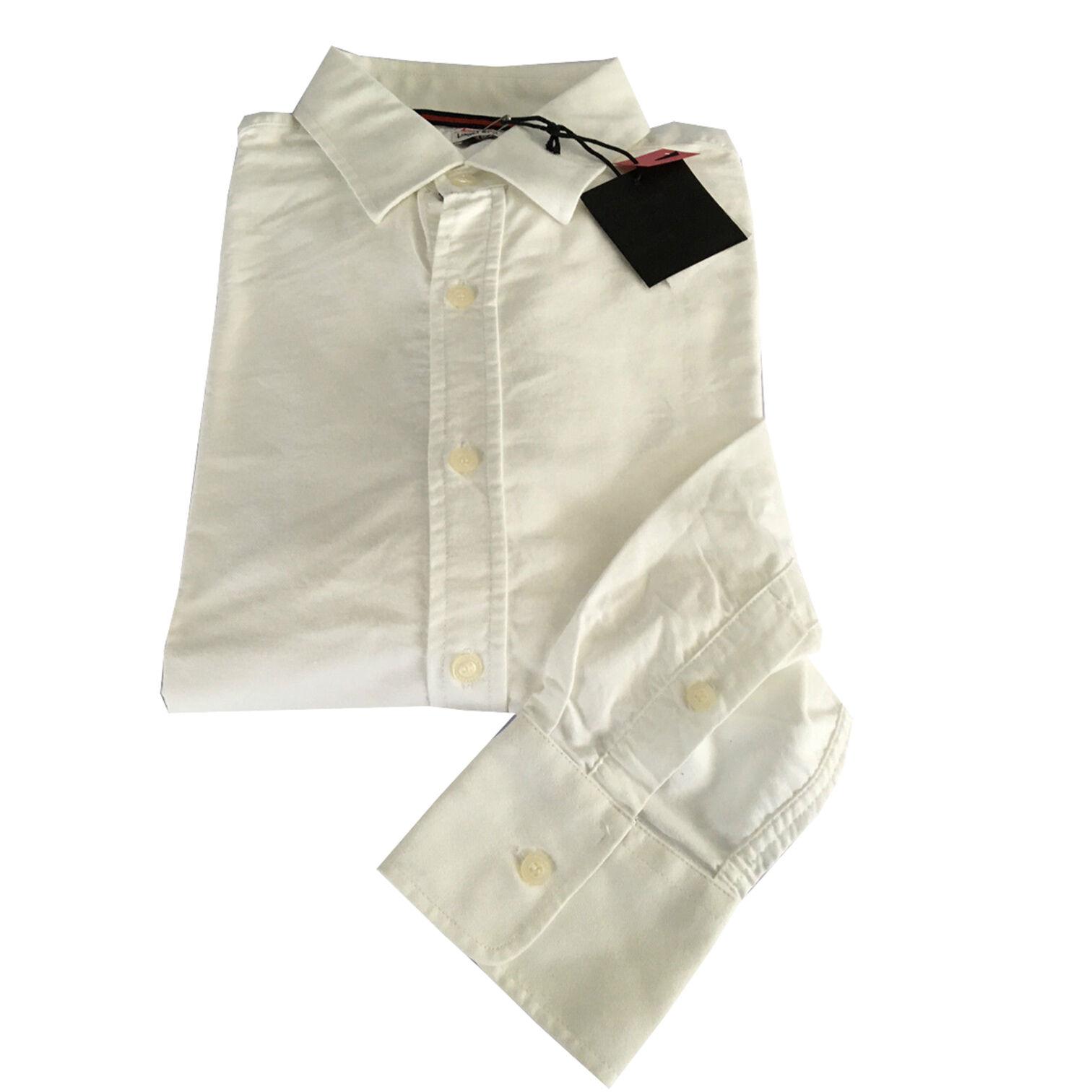 VINTAGE 55 linea LUXURY BASIC men's shirts Oxford white 100% cotton slim L