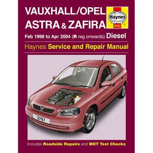 New-Haynes-Manual-Vauxhall-Astra-Zafira-Diesel-98-04-Workshop-Repair-Book-3797