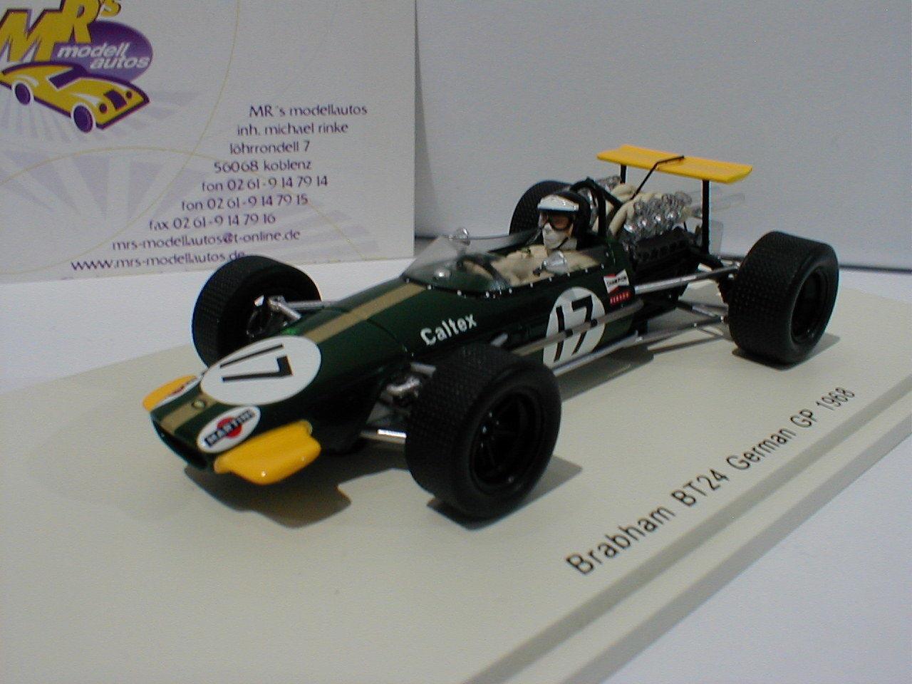 SPARK SPARK SPARK s4780-Brabham bt24 No. 17 GerFemme GP 1968 K. AHRENS 1:43 | Bradées  69275b