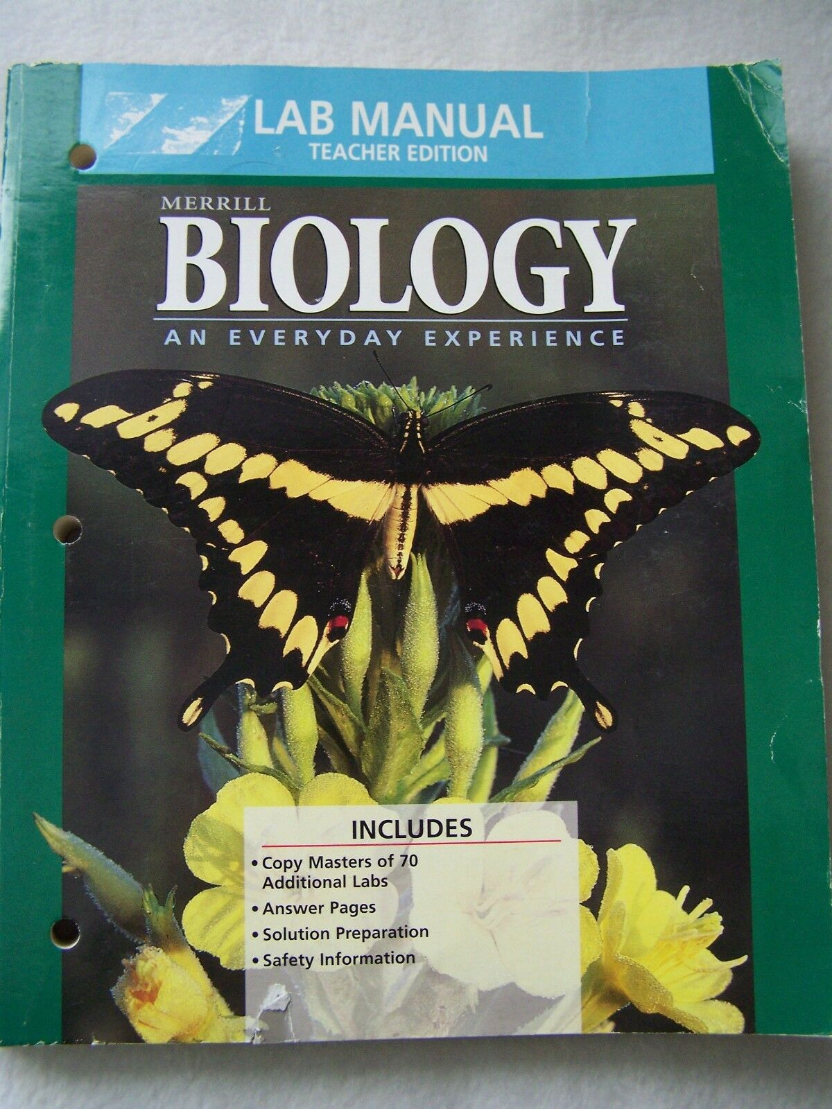 Biology : An Everyday Experience, 1999 by Kaskel, Hummer and Daniel (1999,  Hardcover, Lab Manual, Teacher's Edition of Textbook)   eBay