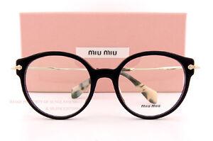 3a9eb544b0 Brand New Miu Miu Eyeglass Frames MU 04PV 1AB Black For Women Size ...