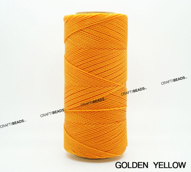 OLD COPPER 1mm Waxed Polyester Twisted Cord Macrame Bracelet Thread Artisan String 180yards Spool