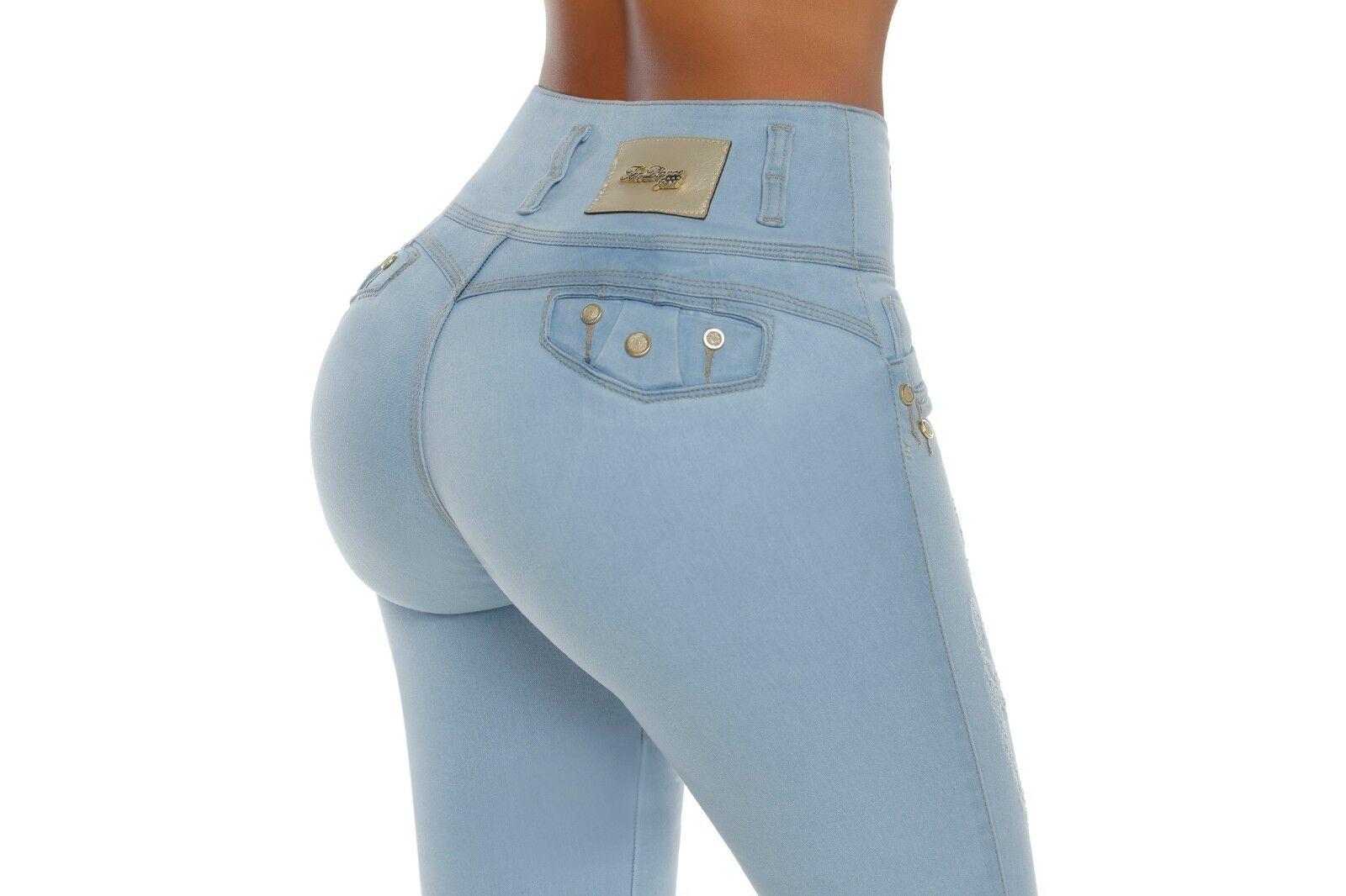 Jeans Colombianos levantacola push up Butt lifter fajas levanta pompi 1257