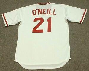 cheap for discount d3200 e6c7e Details about PAUL O'NEILL Cincinnati Reds 1990 Majestic Cooperstown Home  Baseball Jersey
