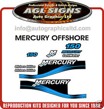 MERCURY 150 OFFSHORE OUTBOARD DECAL  KIT, RED & 175 200 250 HP'S AVAILABLE