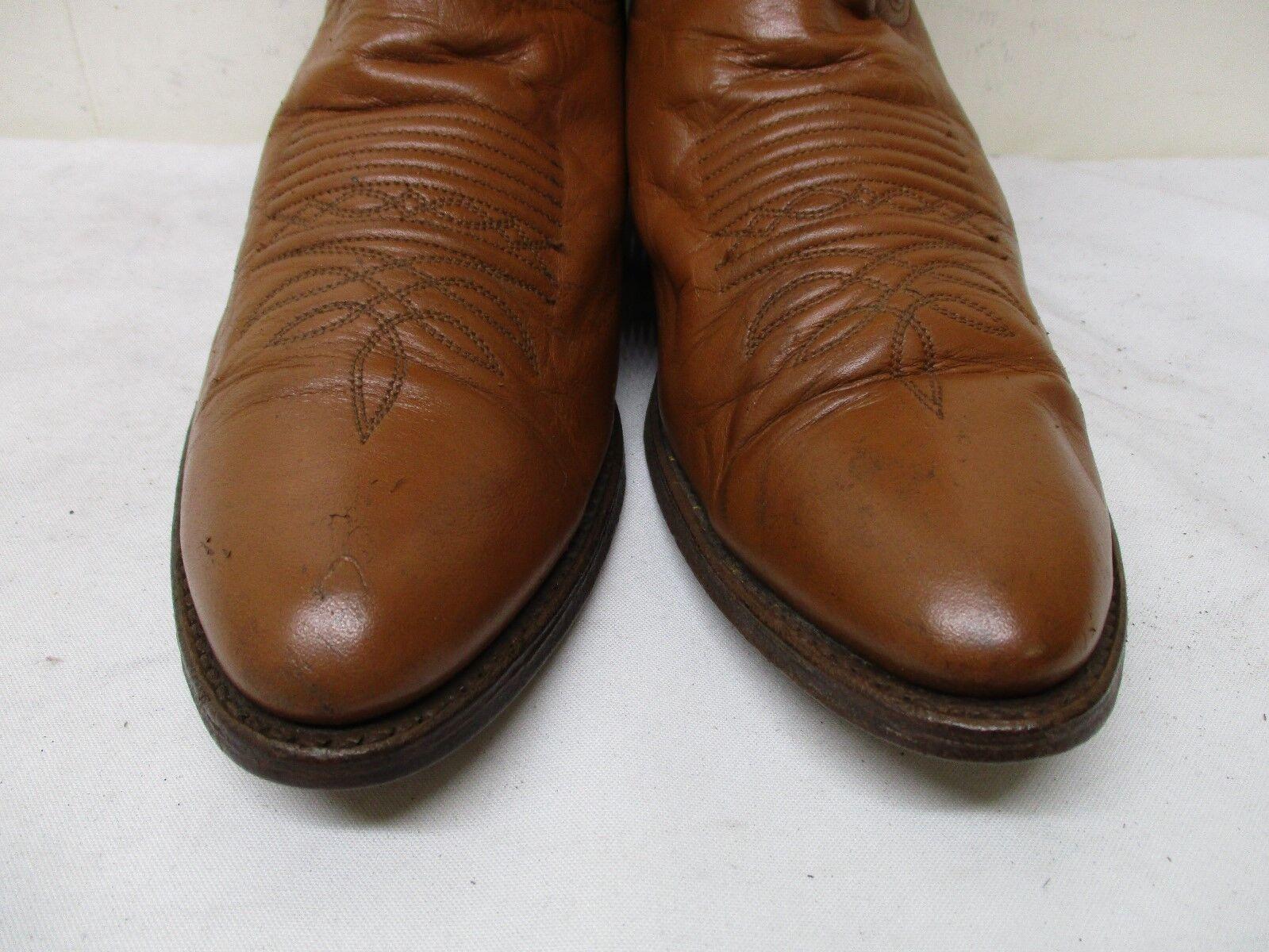 DAN POST Cognac Pelle Cowboy Western Stivali Uomo Size 9.5 D D 9.5 Style P2254  A df4983