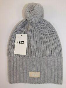 514f55d276adf NWT UGG Womens Sterling Heather Grey Wool Blend Cardi Stitch Yarn ...