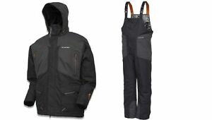 THERMAL FLEECE LINED FISHING SUIT JACKET BIB AND BRACE TOP QUALITY Size XXL