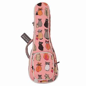 Cute Padded Miss Cat Canvas Ukulele Cases For Soprano Ukulele Ukulele Carry Bags Ebay