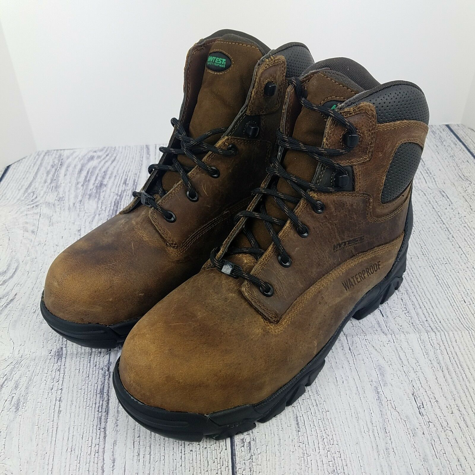 Hytest Hiker Safety Work Boots WP EH PR Mens 11 M Electrical Hazard Comp Toe New