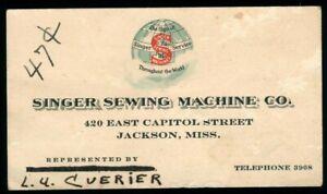 Singer-Sewing-Machine-Vintage-Business-Card-Cuerier-Jackson-Mississippi