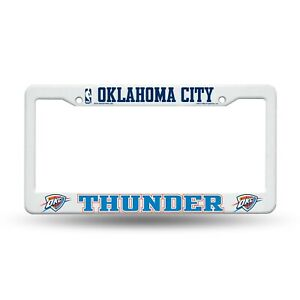 Oklahoma-City-Thunder-Plastic-License-Plate-Frame-Tag-Cover-Raised-Graphics-NEW