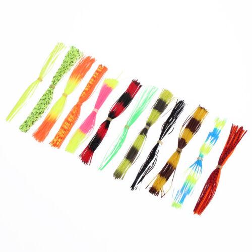 PVC 12 Bundles Silikon Beine verjährt Farbe Pearl Flake Fliegenbinden Mater #LY