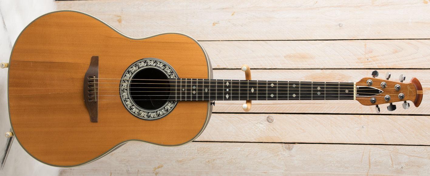 1976 Ovation Balladeer Model  1112-4 Acoustic Guitar USA Gitarre Original