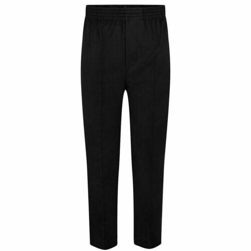 Boys Pull Up Trousers Elastic Waist Pull School wear Teflon Uniform Pants