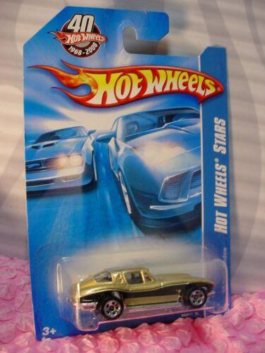 2008 i 40th Hot Wheels /'63 SPLIT WINDOW Corvette 045//172∞Gold; 5sp∞HW STars
