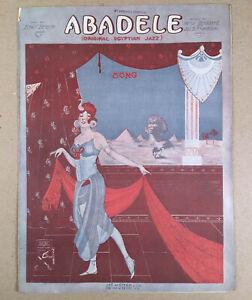1920-Scarce-Sheet-Music-ABADELE-Egyptian-Jazz-Harry-Stoddard-Jos-B-Franklin