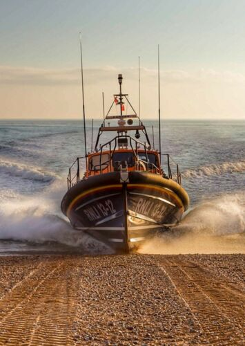 Relief Shannon Class Cosandra Lifeboat at Hastings Postcard