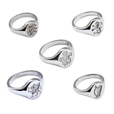 Ausdrucksvoll New Engraved Signet Rings 925 Solid Sterling Silver 14x12mm Oval Uk Hallmarked Weich Und Rutschhemmend