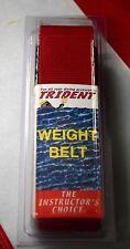 """Scuba diving weight belt dive equipment Trident RED 58""""x2"""" webbing dredging fun"""