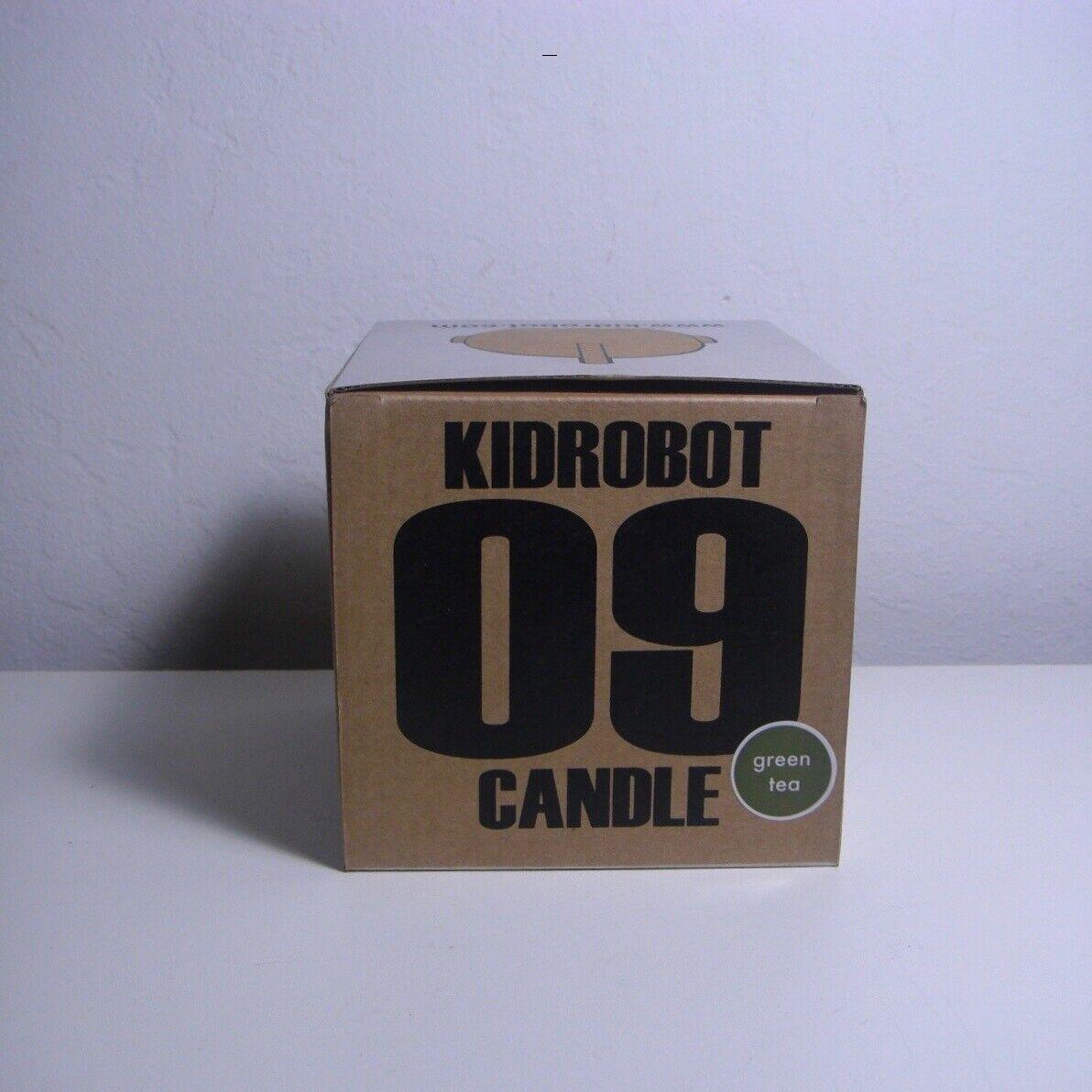 Kidrobot Mascot Head Candle 09 Grün Tea Scent NEW RARE 2009