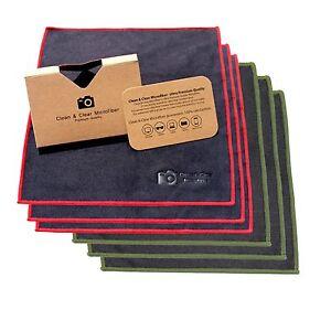 GRANDE-Pack-6-Clean-amp-Clear-microfibra-ULTRA-PREMIUM-QUALITY-LENS-CLEANING-Vestiti