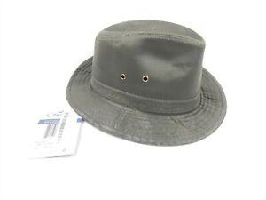 27ae79a9b Conner Hats Men's Indy Jones Water Resistant Cotton Hat (Loden) SZ ...