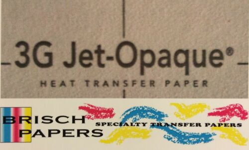 """INKJET TRANSFER PAPER FOR DARK FABRIC NEENAH /""""3G JET OPAQUE/"""" 50 CT A3 SIZE"""