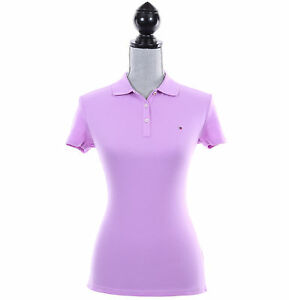 aeafee42 Image is loading Tommy-Hilfiger-Women-Classic-Fit-Short-Sleeve-Solid-