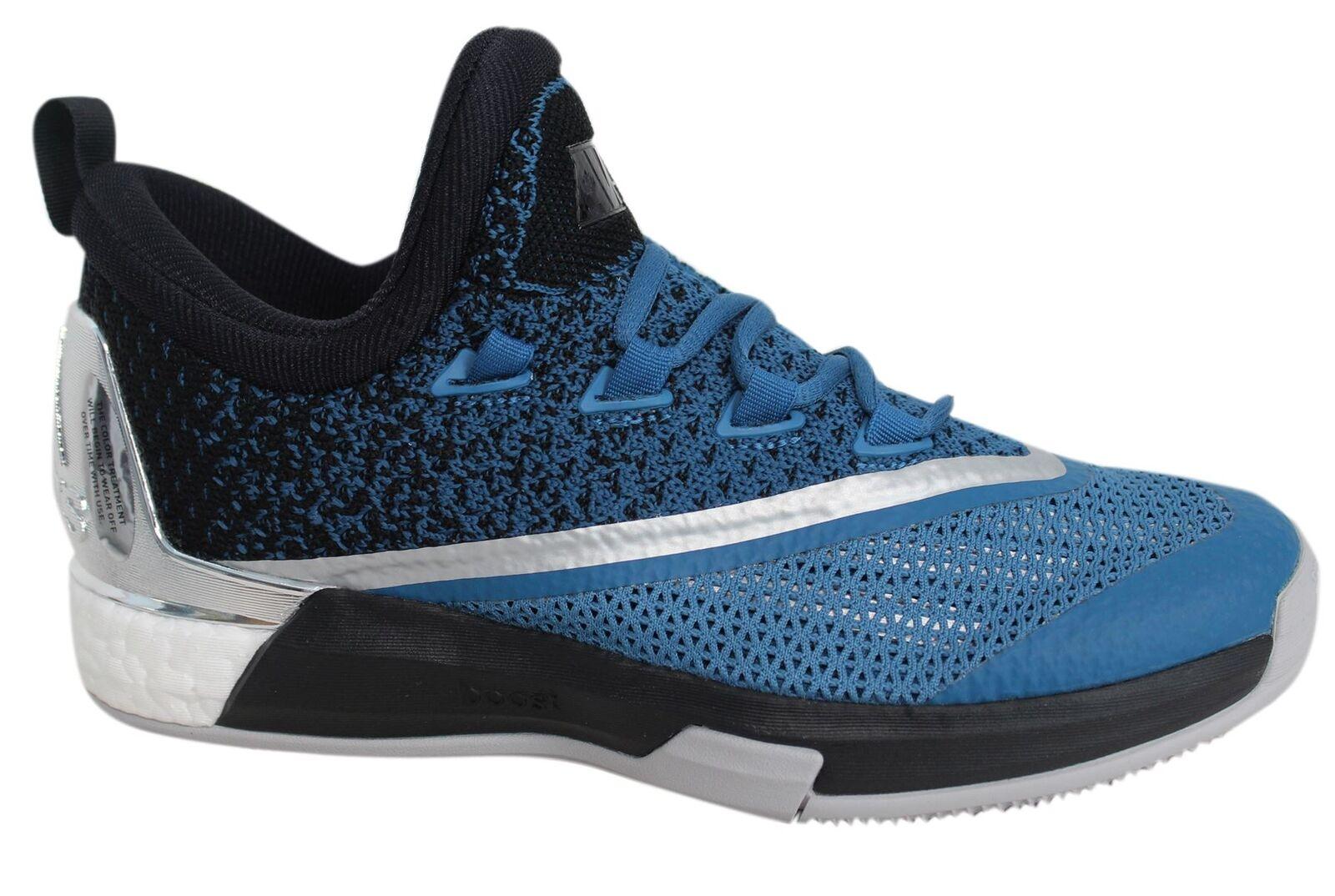 Adidas lgtsca Verstärkung 2.5 niedrig Schnürer Blau Silber Basketballschuhe