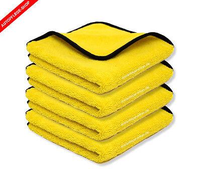 Premium 4x Microfasertuch Mikrofasertücher für Autopflege Lackpflege Reinigung