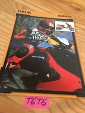 Yamaha Scooter Aerox 50  prospectus brochure prospekt catalog dépliant catalog