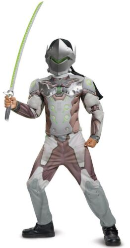 Genji Overwatch Boy/'s Small 4-6 Muscle Halloween Costume Video Game New 2018
