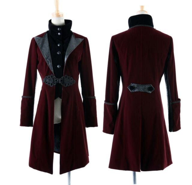 Punk Rave Rock Red Jacket Coat blazer Men Women Visual Kei Streampunk Cardigan Y