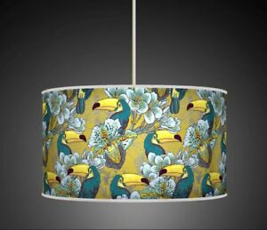 TROPICAL TOUCAN BIRDS FLORAL TEAL MUSTARD  HANDMADE LAMPSHADE CEILING TABLE 937 - Glasgow, Glasgow (City of), United Kingdom - Returns accepted Most purchases from business sellers are protected by the Consumer Contract Regulations 2013 which give you the right to cancel the purchase within 14 days after the day you receive the item. F - Glasgow, Glasgow (City of), United Kingdom