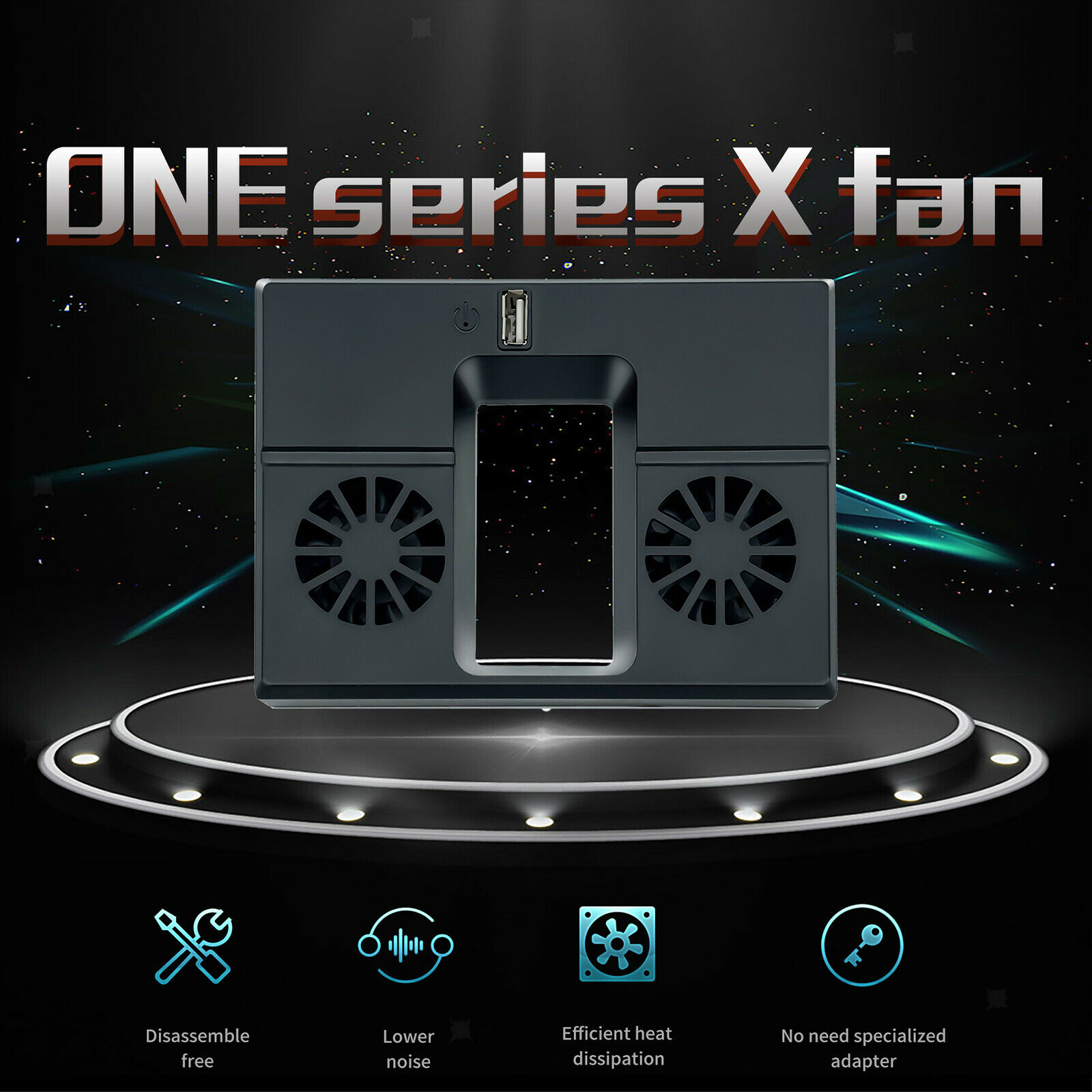 Cooling Fan Radiator Cooler System Vertical Stand Dock for Series x for Game
