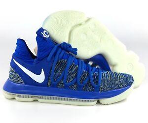 best loved 0da4f fe1e3 Details about Nike Zoom KD 10 Warriors Royal Blue White Yellow Glow In Dark  AV4899-414 Men's 9