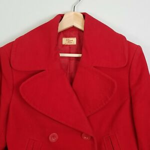 R-M-WILLIAMS-Womens-Red-Coat-Jacket-Size-AU-10-or-US-6