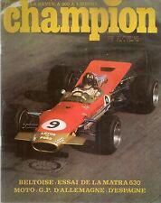 CHAMPION 30 1968 ESSAI MATRA 630 125 YAMAHA YAS 1 JOHNNY SERVOZ GAVIN