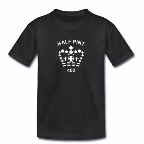 Childrens demi-pinte t-shirt-noir-drôle de petit court shirt-garçons filles enfants
