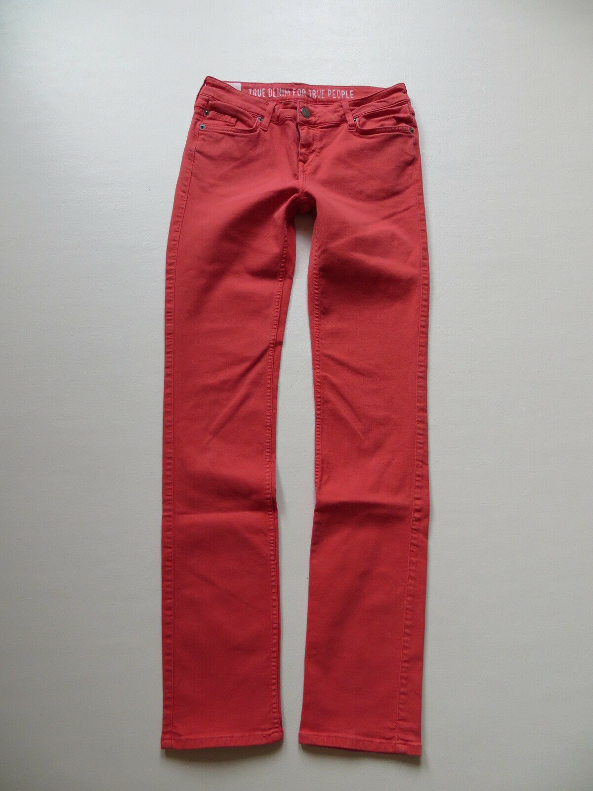 Mustang JASMIN Damen Jeans Hose W 27  L 32 Rot   slim fit Stretch Denim TOP