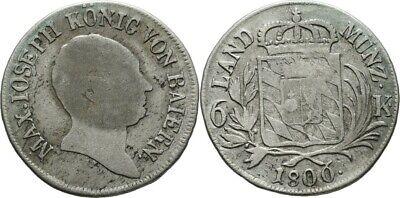 6 Kreuzer 1806 Bayern München Maximilian Iv./i. Joseph, Wappen #vk251