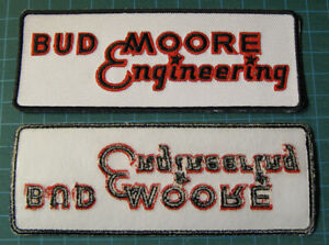 BUD-MOORE-ENGINEERING-EMBROIDERED-PATCH-DECAL-SCCA-NASCAR-TRANS-AM-RACING-5-034