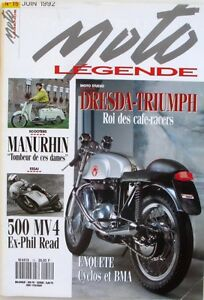 Moto Légende N°15-1992-dresda-triumph-manurhin-bma-ralph Bryans-indian Big Chief Clair Et Distinctif