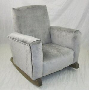 Image Is Loading New Children 039 S Upholstered Rocking Chair Gray