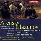 Arensky: Violin Concerto/Glazunov: Concerto Ballata/Piano Concerto (CD, Feb-1997, Chandos)